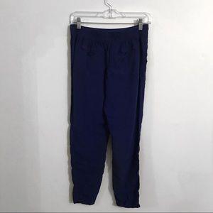 Free People elastic waist blue rayon pants, XS